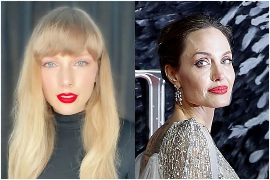 Taylor Swift (left) and Angelina Jolie.