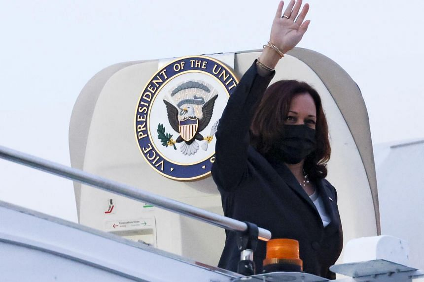 Ms Harris flew to Vietnam on Tuesday after a three-hour delay in Singapore.