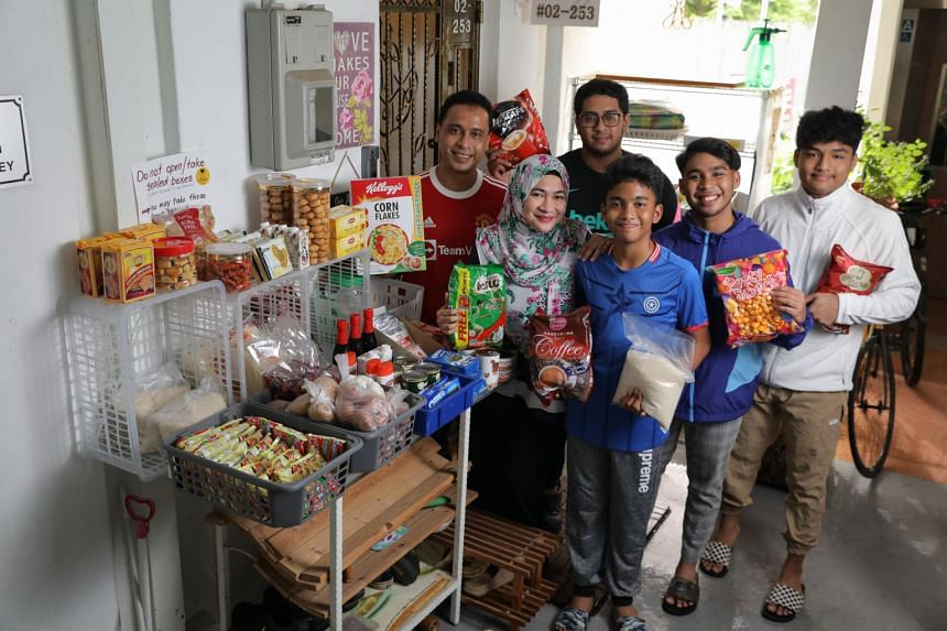 The family dreams of turning the small grocery corner into a bigger physical shop so they can continue to help people.