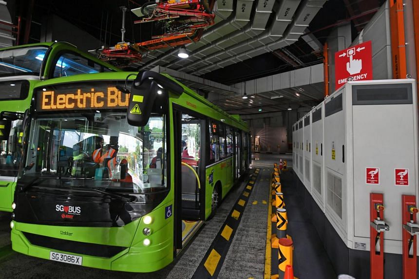 They are the final batch of electric buses to be deployed here out of a fleet of 60 electric buses that were bought by LTA in 2018.