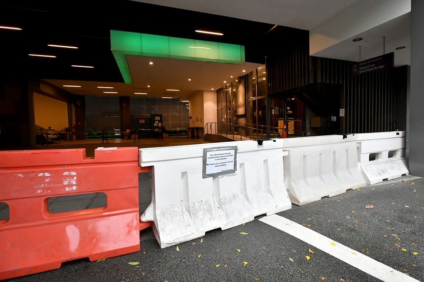Barricades outside the former Destination Singapore Beach Road hotel on Aug 24, 2021.