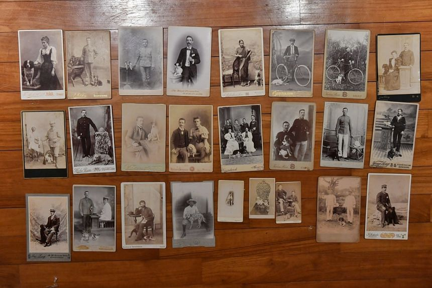 Some of the photos in Mr John Koh's collection.