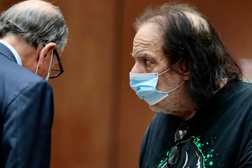 Adult film star Ron Jeremy attends a court hearing in Los Angeles in June 2020.