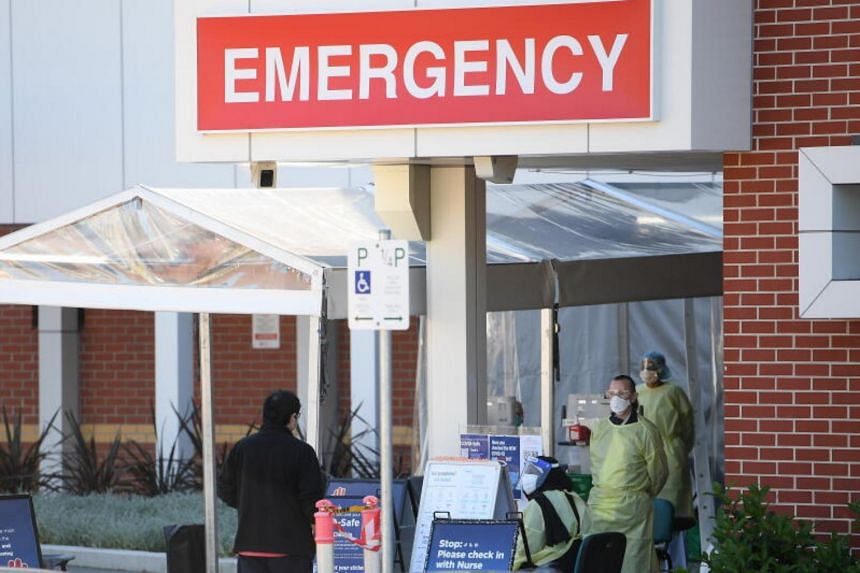 Canterbury Hospital in Sydney.  The city is struggling to stamp out an outbreak of the highly infectious Delta variant.