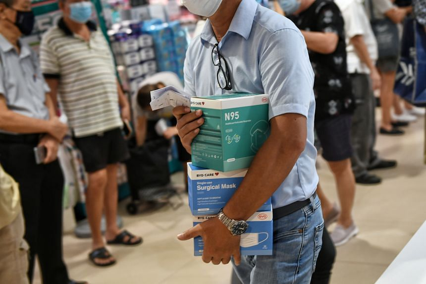 Under the initiative, each household can collect 50 medical-grade surgical masks and 25 N95 respirator masks at selected malls and supermarket outlets islandwide.