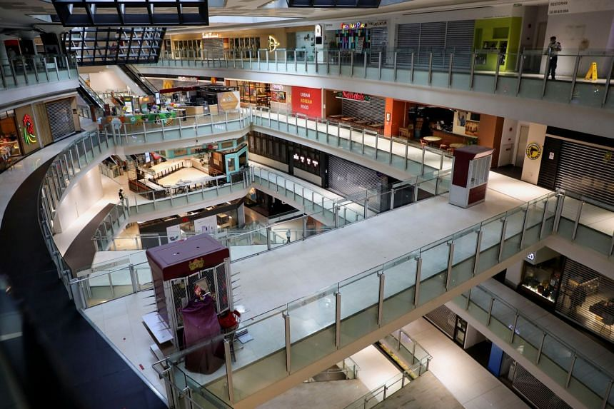 A view of a deserted shopping mall during a Covid-19 lockdown in Kuala Lumpur, on June 1, 2021.