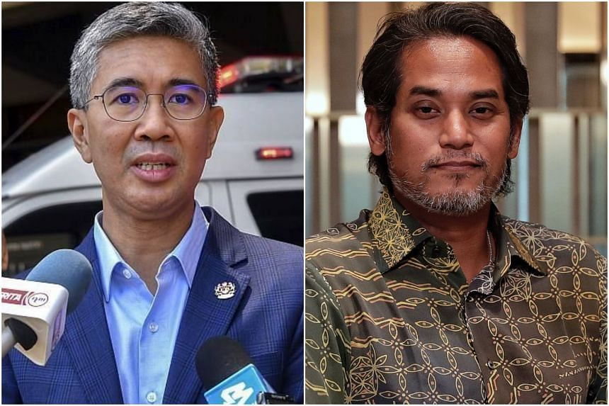 Mr Tengku Zafrul Aziz (left) will remain as finance minister and Mr Khairy Jamaluddin will helm the Ministry of Health in Malaysian Prime Minister Ismail Sabri Yaakob's new Cabinet.