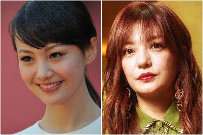 Chinese actress Zheng Shuang (left) and film star Vicki Zhao.