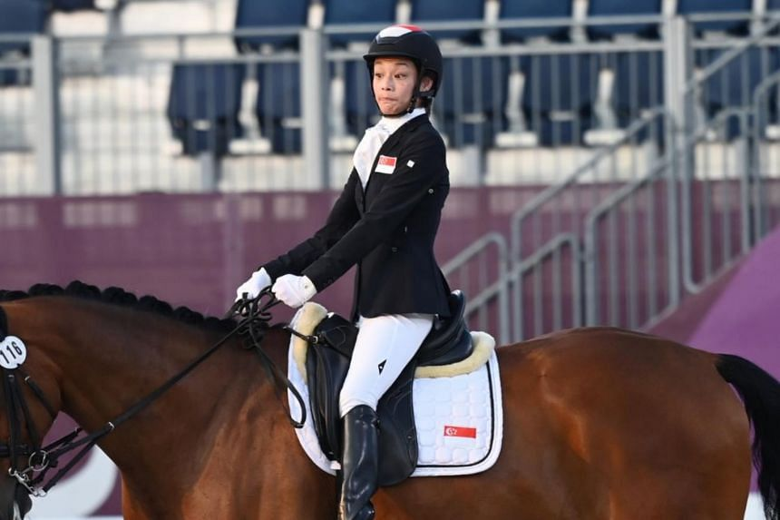 Laurentia Tan and her horse Banestro scored 73.964 points, three points behind bronze medallist Sara Morganti from Italy.
