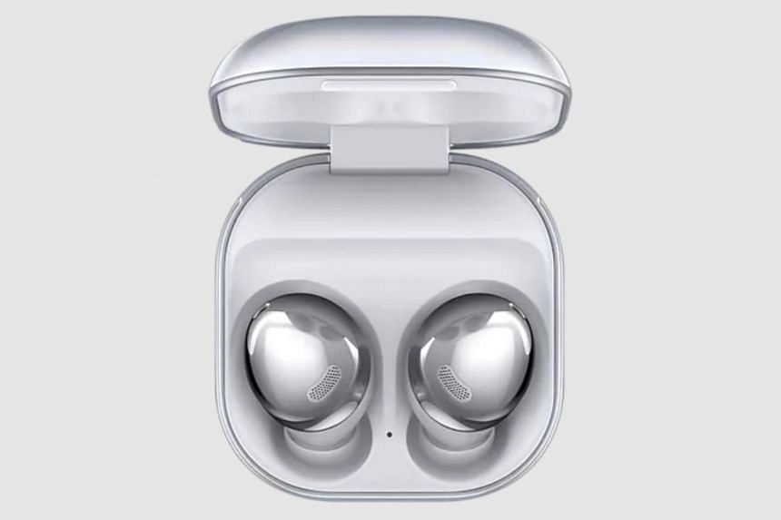 The noise-cancelling wireless earbuds connect to any Bluetooth device, including the news tablet.