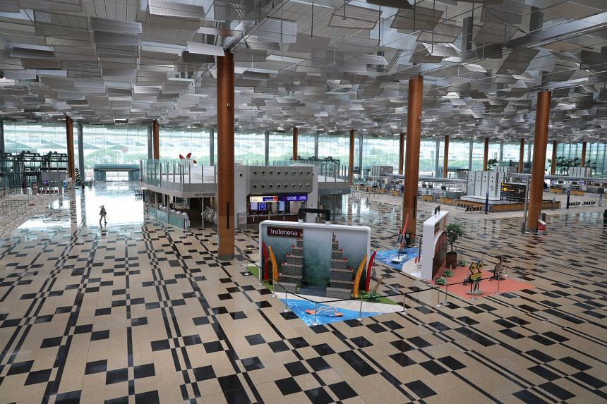 The two terminals, along with Jewel Changi Airport, were closed in May after a Covid-19 cluster was detected in Terminal 3 (pictured).
