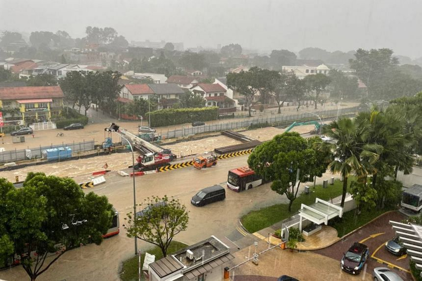 Flash floods along Dunearn Road have occurred three times this year.