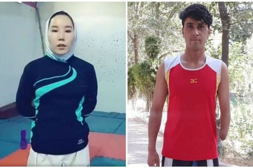 Zakia Khudadadi (left) and Hossain Rasouli had expressed a wish not to speak to the media and this would be respected.