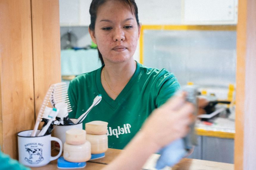 Ms Phyo Phyo Ei worked as a maid in Singapore for almost a decade before switching to home cleaning.