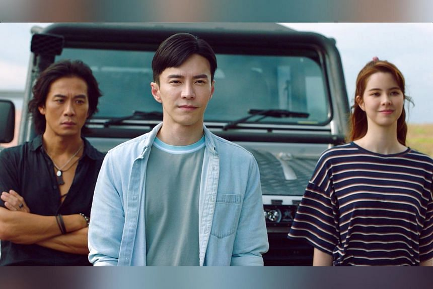 (From left) Qi Yuwu, Lawrence Wong and Kate Kinney in The Ferryman: Legends Of Nanyang.