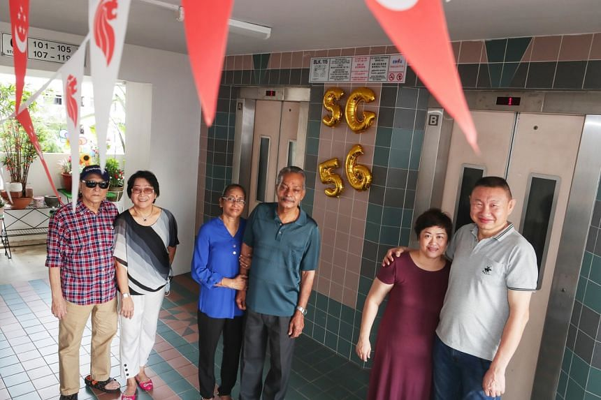 The Goh, Rajendran and Tan families live on the sixth storey of Block 115 Whampoa Road.