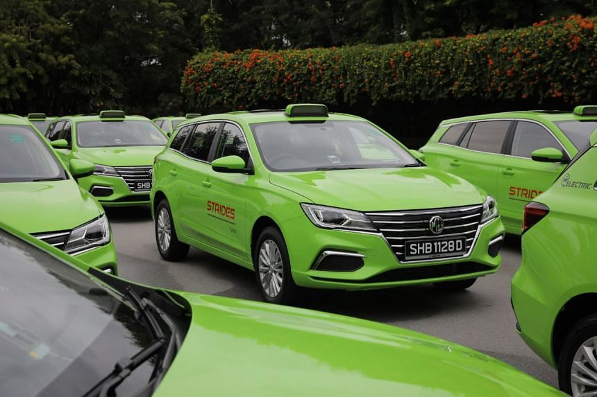 The 15 electric taxis are the first batch of 300 such vehicles that will be rolled out by SMRT by the end of 2021.