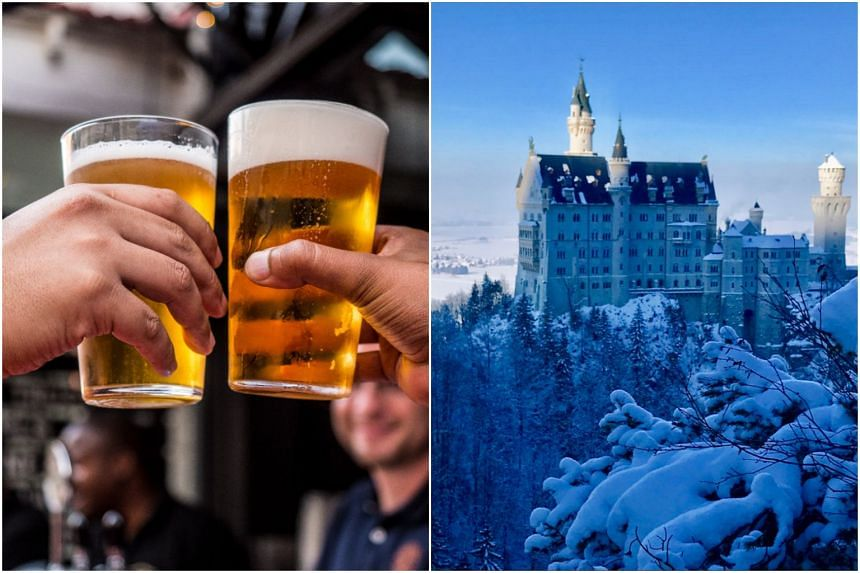 Sip an ice-cold Bavarian beer at one of the garden cafes or ogle at the Neuschwanstein castle.