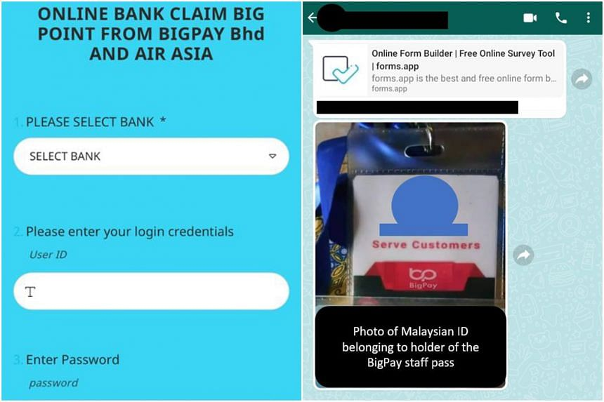 Police said the caller may share fake BigPay employee ID to reinforce that they were working for the services provider.