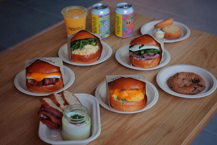 Eggslut's sandwiches are made using brioche buns flown in from South Korea.