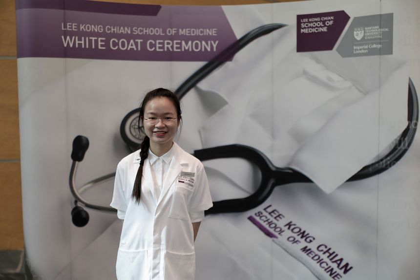 Miss Loh Pei Yi was one of 168 medical students who have enrolled in the NTU Lee Kong Chian School of Medicine this year.