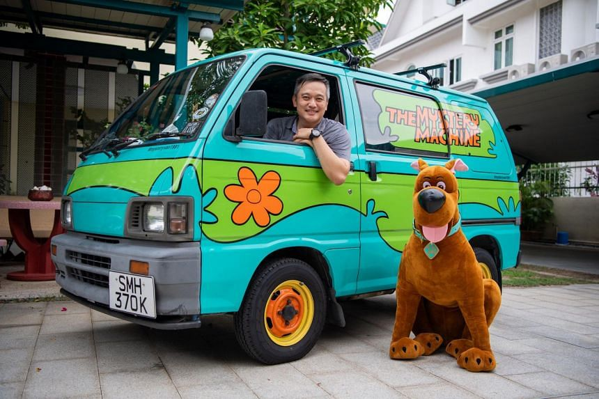 Clarence Tan's Daihatsu Hijet van looks like the Mystery Machine featured in the 1970s Scooby-Doo cartoon series.