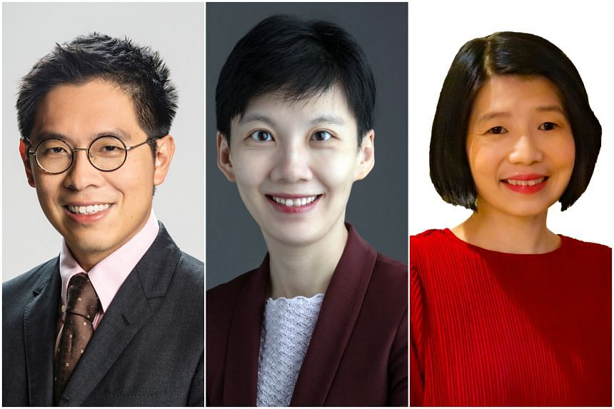 (From left) Mr Chng Kai Fong, Ms Lim Wan Yong and Ms Teoh Zsin Woon will assume new Permanent Secretary appointments.