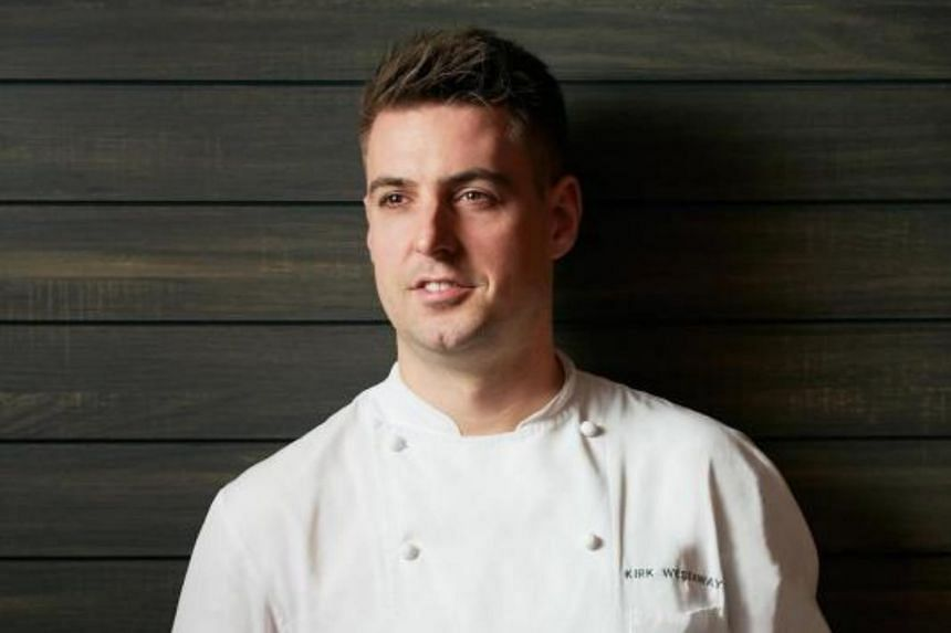 Jaan by Kirk Westaway (above), known for reinventing British fine cuisine, was the only restaurant to move up from one star to two.