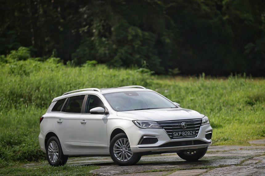 The new MG 5 station wagon on Aug 31, 2021.