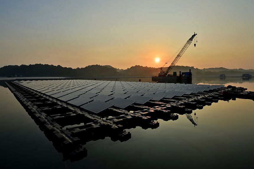 Singapore plans for solar capacity to quadruple to 1.5 gigawatt-peak by 2025. The Sembcorp Tengeh Floating Solar Farm (above) will produce 60 megawatt-peak of energy, enough to power around 16,000 4-room Housing Board flats for one year.