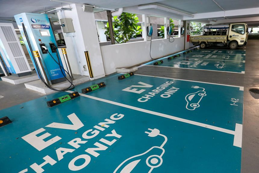 Singapore has set a national target of 40,000 charging points in public carparks by 2030.