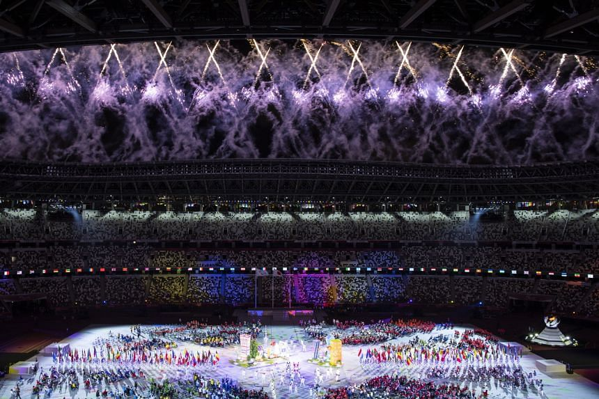 The closing ceremony of the 2020 Tokyo Paralympics Games at the Olympic Stadium on Sept 5, 2021.