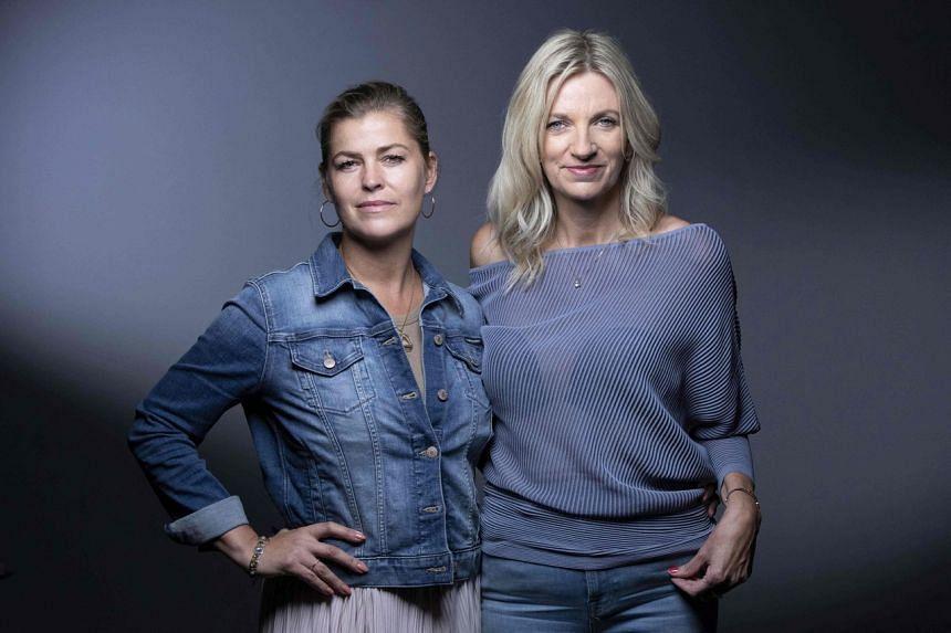 Swedish former Elite model Ebba Karlsson (left) and ex-BBC journalist Lisa Brinkworth.
