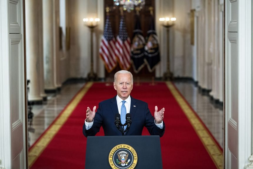 """US President Joe Biden declared the end of """"an era of major military operations to remake other countries"""" on Aug 31, 2021."""