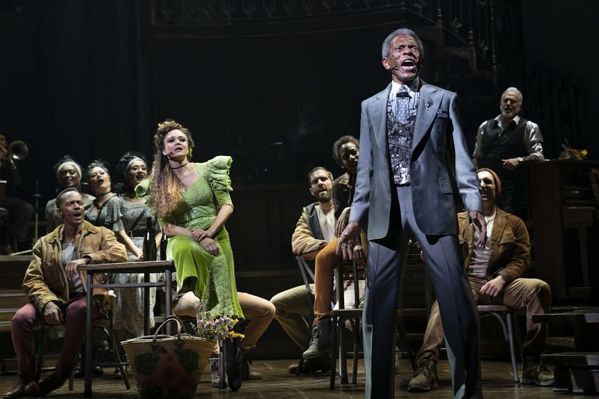 Hadestown (above) and Waitress were the first two musicals reopened on Broadway on Aug 31, 2021.