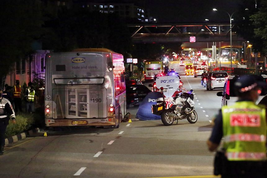 Cyclist German Jr Miranda Gonzales was hit and dragged by a bus for about 35m on March 19, 2021.