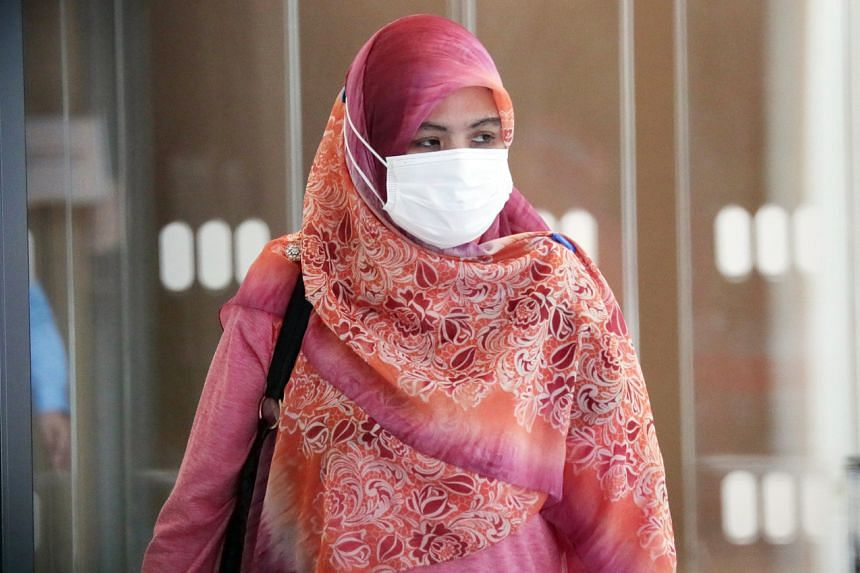 Hatimah Mohd Hussein pleaded guilty to one count of causing hurt via a rash act endangering the personal safety of the victim.