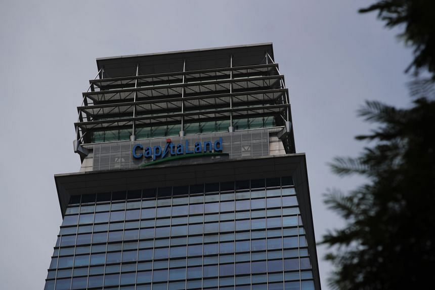 CapitaLand shares were down three cents or 0.7 per cent at $4.06.