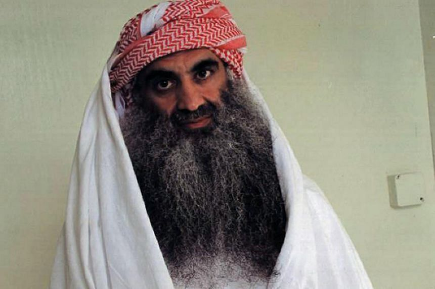 Al-Qaeda's Khalid Sheikh Mohammed, alleged organiser of the Sept 11, 2001 attacks, at the Guantanamo Bay detention camp.