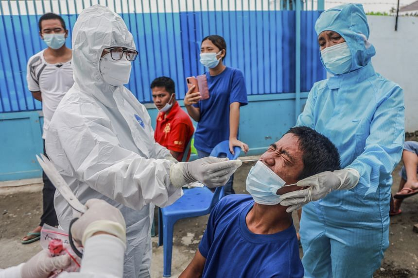 The positivity rate peaked at 33.4 per cent in July when Indonesia became Asia's coronavirus epicentre.