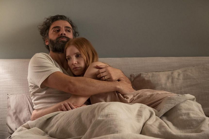 Jessica Chastain and Oscar Isaac in Scenes From A Marriage.