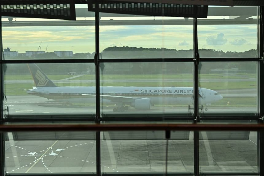 Singapore Airlines flight SQ325 from Frankfurt touched down at Changi Airport at 5.36pm on Sept 8, 2021.