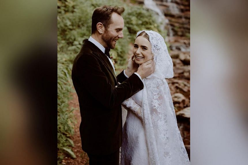 British actress Lily Collins and American director Charlie McDowell tied the knot in a private ceremony.