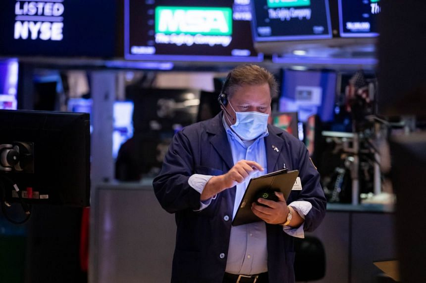 A trader works on the floor of the New York Stock Exchange on Sept 7, 2021.