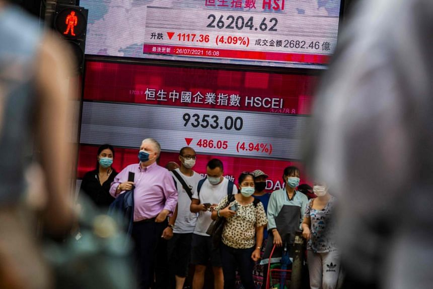 The Hang Seng Tech Index fell 2.44 per cent in early trading.