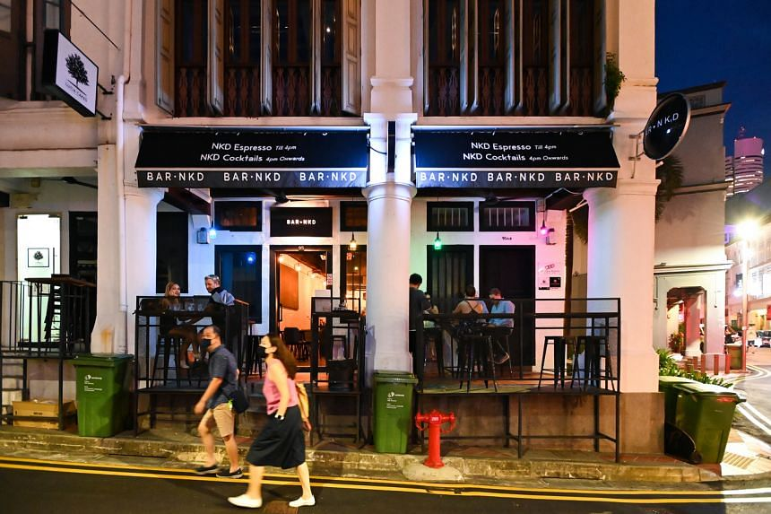Bar Nkd in Club Street is one of the establishments allowed to open their doors again.