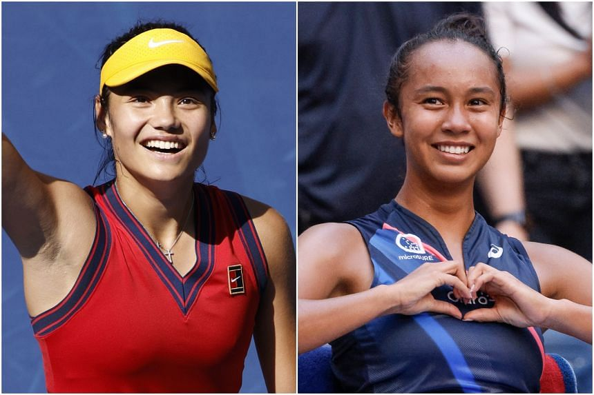Emma Raducanu (left) and Leylah Annie Fernandez continued their stunning run to reach the semi-finals of the US Open.