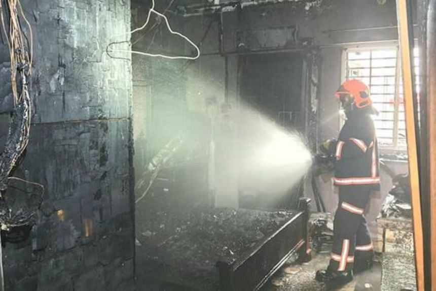 The Singapore Civil Defence Force said that it was alerted to the fire at about 11.10am.