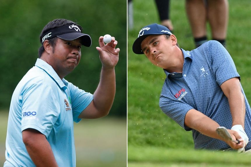 Kiradech and Bezuidenhout shot 64s to take a one-stroke lead.