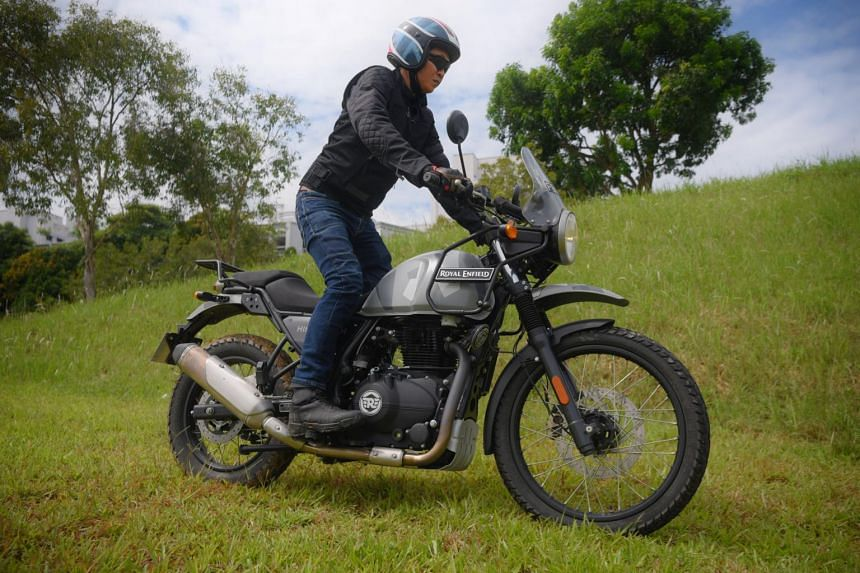 The Royal Enfield HImalayan has a digital compass to aid navigation on off-road detours.